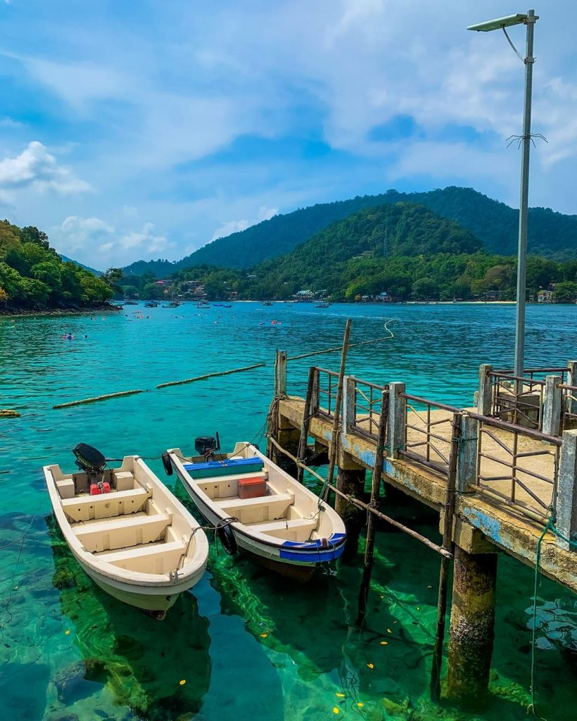 the beautiful rubiah island is one of tourist desitnaton in aceh