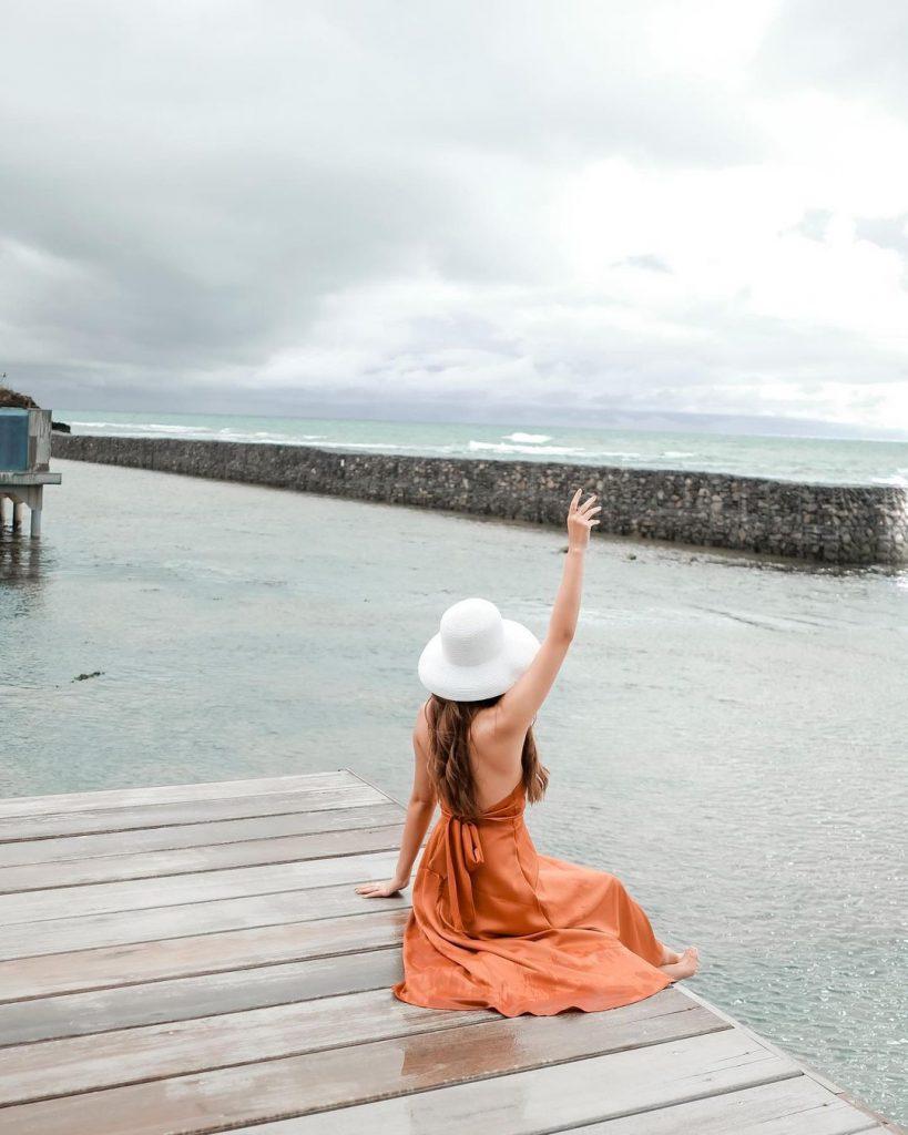 Anyer beach of Banten is tourist attraction in banten