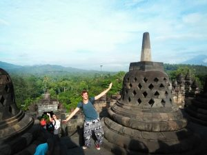 borobudur temple is tourist destination in yogyakarta