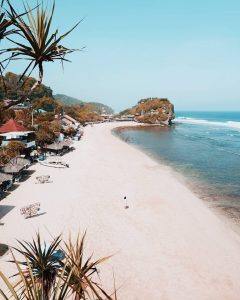 indrayanti beach is tourist destination in yogyakarta