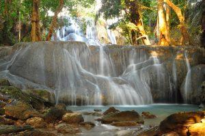 oenesu waterfall east nusa tenggara indonesia