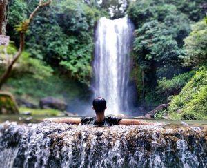renah sungai besar waterfall in jambi