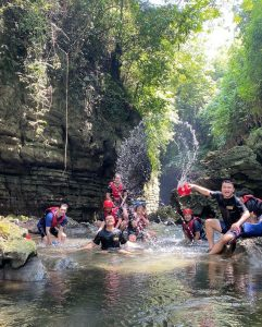 green canyon pangandaran is tourist attraction in west java indonesia