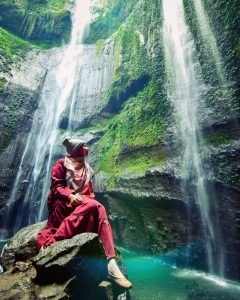 madakaripura waterfall is tourist attraction in west java