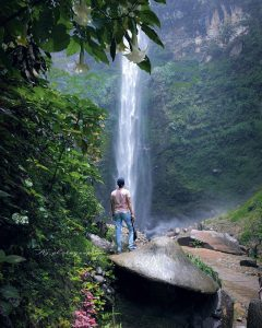 coban rondo waterfall is tourist attraction in west java
