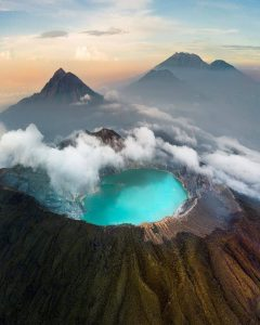 ijen crater is tourist attraction in west java