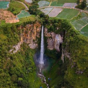 Sipiso-Piso Waterfall is tourist attraction in North Sumatra