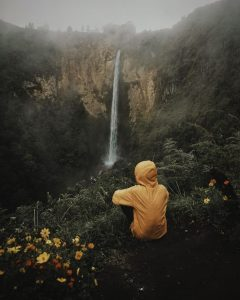 Piso piso waterfall tourist destination in north sumatra